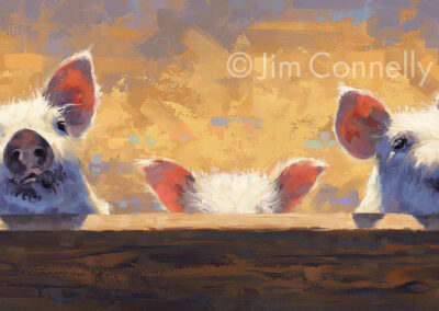Three Little Piggies SOLD